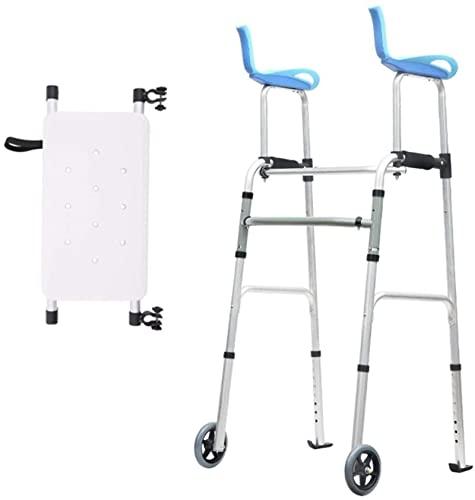Medicy Rolling Walkers para personas mayores, con asiento y reposabrazos y ruedas, stand de altura ajustable, caminante vertical, para personas mayores altas discapacitados