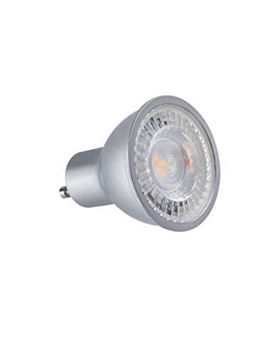 Spot led GU10 COB 7 watt - finition grise - Couleur eclairage - Blanc chaud 2700°K. Finition - Grise