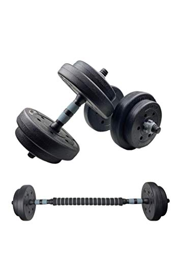 SWIFTFIT Adjustable Dumbells Barbell Weight Set, All in One Including a Barbell Connector for Home Office and Gym (20 LBS Set, 40 LBS Set, 60 LBS Set) (20 LBS Pair / 10 LBS Each)