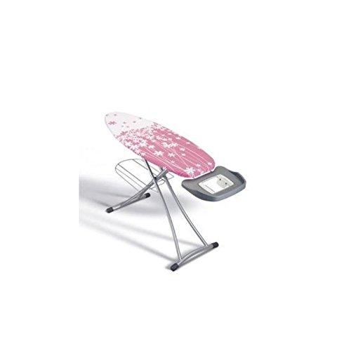 Metaltex 41807180080 Alhena Table à Repasser Métal Rose 125 x 44 cm