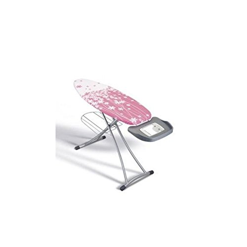 Metaltex 41807180080 Alhena Table à Repasser Métal Rose 125 x 44 cm