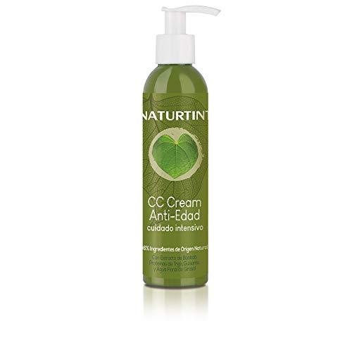 Naturtint CC Cream - Tratamiento Antiedad y Reparador del cabello sin Aclarado, 96% ingredientes naturales, más fuerza y volumen, 200 ml
