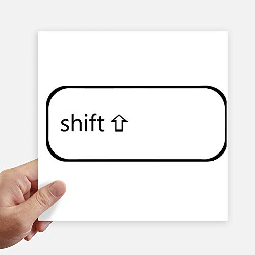 DIYthinker Toetsenbord Symbool Shift Vierkante Stickers 20Cm Wandkoffer Laptop Motobike Decal 4 Stks