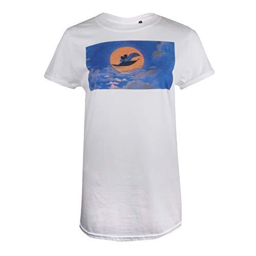 Disney Aladdin Love Camiseta, Blanco (White White), M para Mujer