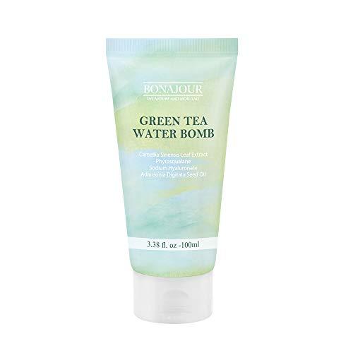 [BONAJOUR] Vegan beauty Organic Green Tea Natural Moisturizing Cream for dry and sensitive skin, Best Face Moisturizer_VEGAN- Anti Aging, Anti Wrinkle, Brightening/Get It Beauty best item 3.38 Fl. oz