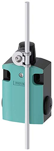 Siemens 3SE5 122-0CH80 International Limit Switch Complete Unit, Rod Actuator, 56mm Metal Enclosure, Aluminum Rod, 200mm Length, Snap Action Contacts, 1 NO + 1 NC Contacts