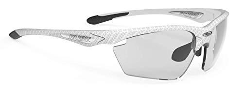 Rudy Project Stratofly Sonnenbrille, weißer Kohlenstoff, Motiv: Impactx Photochrome 2, Schwarz