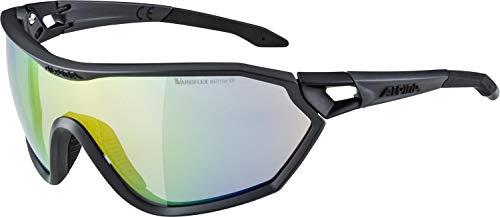 ALPINA Unisex - Erwachsene, S-WAY L V Sportbrille, coal matt-black, One Size