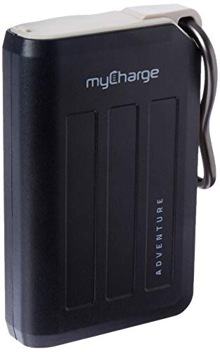 myCharge AdventureMax Portable Charger 10500mAh Rugged External Battery Pack with Built-in Carabiner Clip and Dual USB Ports for Smartphones, Tablets and USB Devices (iPhone, iPad, Samsung Galaxy)