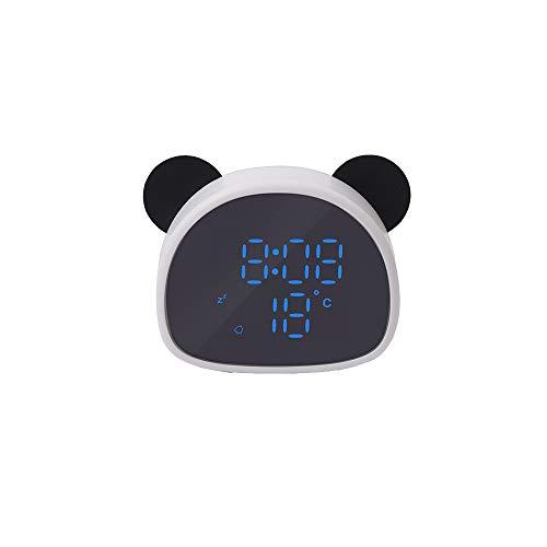 LJ2 Digitaler Wecker, Panda Spiegel Wecker Niedliche Büro-Desktop-Deko-Uhr Multi-Sprachsteuerung...