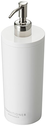 Yamazaki 2930 Tower Conditioner Dispenser Contemporary Bottle Pump for Shower Round White