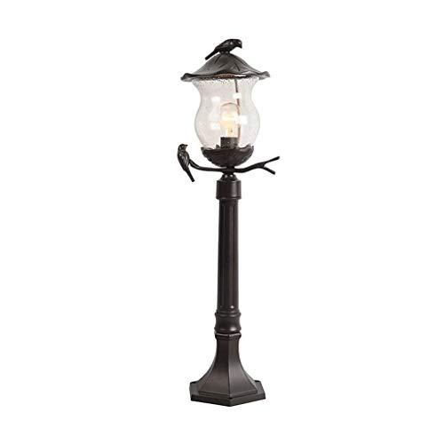 NXYJD IP65 a Prueba de Agua al Aire Libre del césped Pilar de Cristal en Forma de pájaro de la Vendimia Luz de Aluminio Fundido Antioxidante Poste de luz Courtyard Villa Jardín