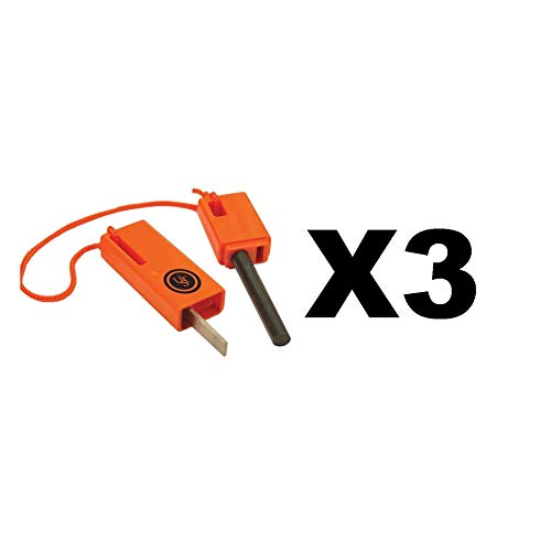 Ultimate Survival Technologies Sparkforce Fire Starter Orange Striker (3-Pack)