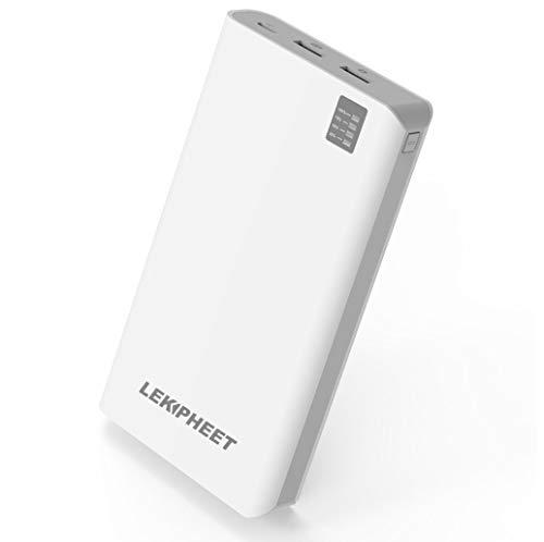 Powerbank 30000mAh mit Modischem und Einzigartigem Design, Schnellladefunktion für Handy, Tabletts, Computerspielautomat, Bluetooth-Kopfhörer, Lautsprecher und mehr (30000mAh Weiß)