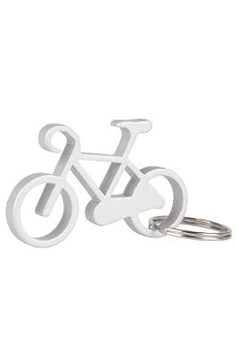 Mountain Warehouse Fahrrad-Schlüsselring mit Flaschenöffner - 3,6 cm x 9 cm, leicht, strapazierfähig, Schnellverschluss - Ideal für Reisen, Wandern, Camping Silber Einheitsgröße