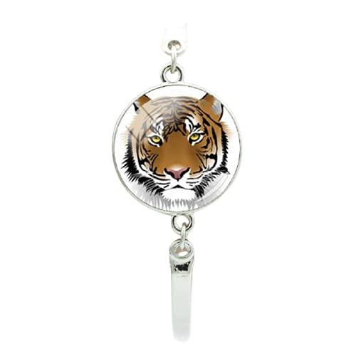 vidrio cabujón tigre foto color pulseras super cool animales salvajes hombres mujeres joyería amigos regalos idea