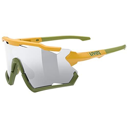 uvex Sportstyle 228 Gafas de Deporte, Adultos Unisex, Mustard Olive Mat/Silver, One Size