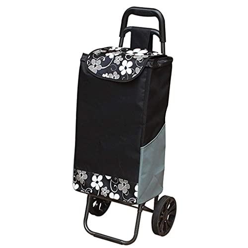 Carrito de la Compra multifunción Remolque portátil Plegable/Bolsa para Anciano Coche/Carrito de Dos Ruedas/Bolsa Impermeable de Tela Oxford/Carretilla