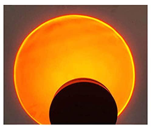 GOLOFEA Lámpara de proyección de Puesta de Sol Lámpara de la Puesta de Sol LED Luz del proyector, iluminación de Humor Visual romántico Sunset