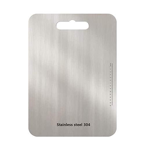 """Tabla de cortar de acero inoxidable para cocina Tabla de cortar para trabajo pesado de 9.5 """"de largo x 5.9"""" de ancho Plata Bloque de carnicero"""