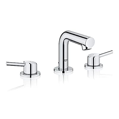 Grohe 20572001 Concetto Widespread Bathroom Faucet, Starlight Chrome