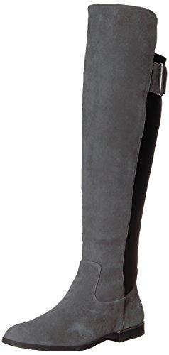 Calvin Klein Damen Priya, Schiefer/schwarzes Leder/Stretch, 37 EU
