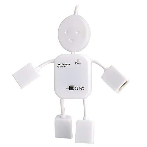 JUSTDOLIFE USB Hub Creatieve Figuur Vormgegeven Draagbare 4 Poorten 2.0 Data Hub Mini USB Hub