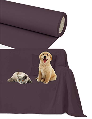 Byour3®️ Funda de sofá Impermeable - protección para Sofás por Mascotas Niños Protector hidrófugo en Algodon Antimanchas Antideslizante para Pelo Gatos Perros (Amatista, 1/2 plazas 200x300cm)