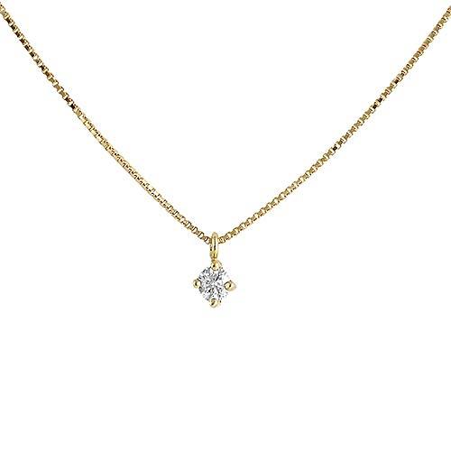 Colgante con cadena Oro Amarillo 18k modelo Garritas (1 Diamante 2,50mm. 0,06cts.) Colgante:2,50mm.