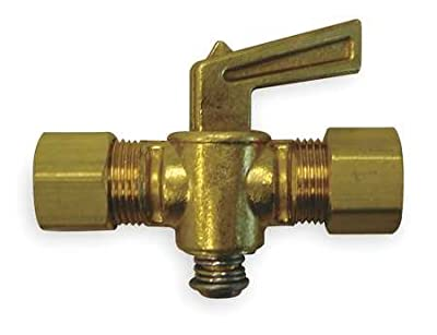Ground Plug Valve, 5/16 In, 30 PSI, Brass by GRAINGER APPROVED