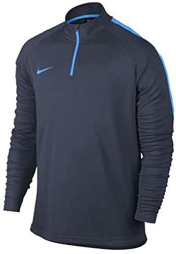 Nike Herren Dry Academy Dril Fußballoberteil Mit Kurzreißverschluss, Obsidian Blau/Blauer Held, M