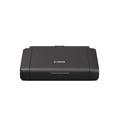 Canon PIXMA TR150 mobiler Drucker mit Akku (WLAN, Cloud, AirPrint, 4.800 dpi x 1.200 dpi, Highspeed USB Typ C, OLED-Display, Tintenstrahldrucker) schwarz