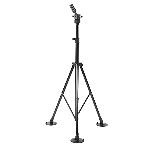 Wig Stand, Wig Display Holder Durable Mannequin Tripod Convenient fo Hair Styling for Home Use for Women and Men(black)