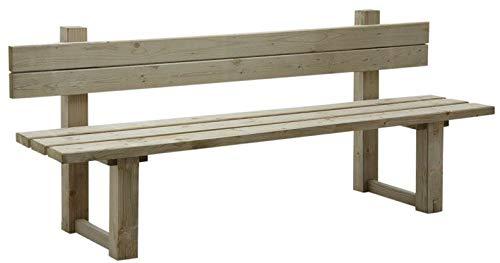 AUBRY GASPARD Banc de jardin avec dossier en bois traité autoclave vert gris