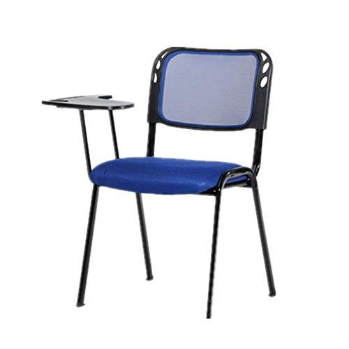 Schrijf de afdichting retro bureaustoel voor ontvangst, zachte stoelen met gevoerde zitting, eenvoudige wordpad, 50 x 45 x 83 cm, 6 kleuren.