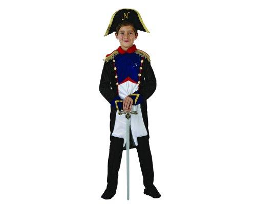 Atosa-70081 Disfraz Napoleón, color azul, 10 a 12 años (70081)
