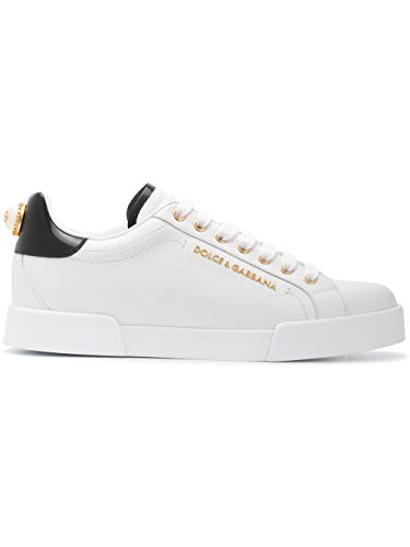 DOLCE E GABBANA Luxury Fashion Damen CK1602AH50689662 Weiss Leder Sneakers | Herbst Winter 20