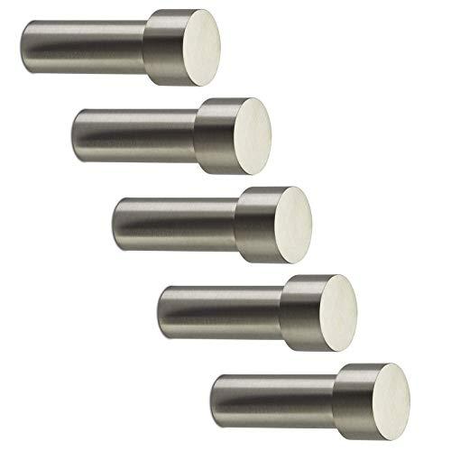 5 Stück SO-TECH® Garderobenhaken TUULA II echt Edelstahl massiv 50 mm - Design trifft auf Funktion - Kleiderhaken Wandhaken Mantelhaken