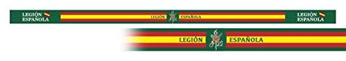 Pulsera LEGIÓN ESPAÑOLA 6 unidades tamaño 33 x 1,4 cm de hilo tricotado Caza, Pesca, Camping, Outdoor, Supervivencia y Bushcraft + portabotellas de regalo