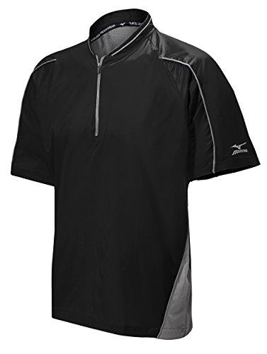 Mizuno Protect Batting Jersey, Black, Small