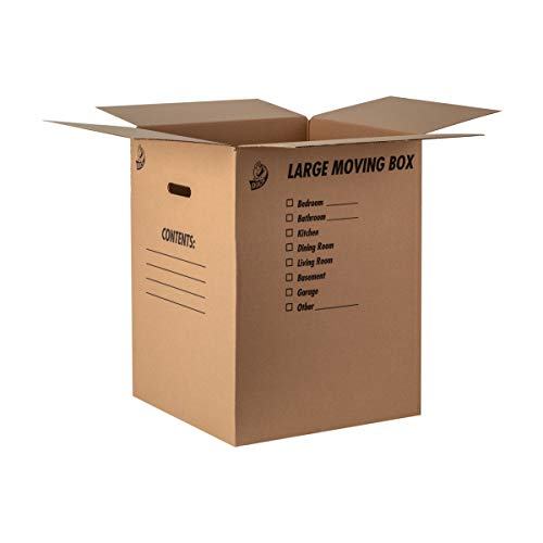 Duck Brand Kraft Corrugated Shipping Boxes, 18' x 18' x 24', Brown, 6-Pack (1139734)