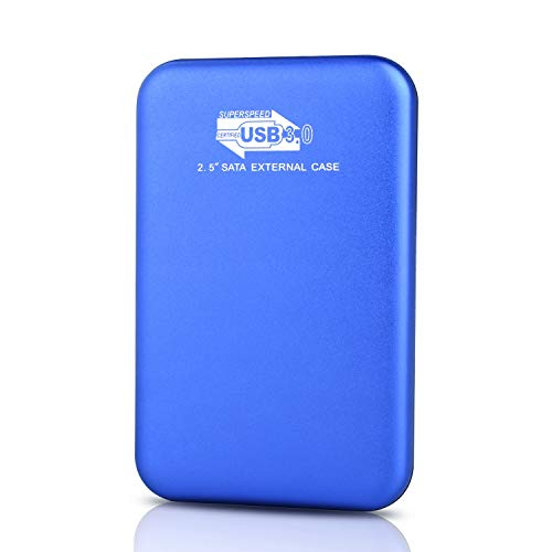 Hard Disk Esterno 2tb USB3.0 Hard Disk Esterno per PC, Mac, Desktop, Laptop, MacBook, Chromebook (2tb, Blu)