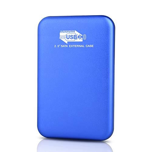 Disque Dur Externe 2to Type C USB3.1 pour PC, Mac, Ordinateur de Bureaup, Ordinateur Portable, Wii U, Xbox(2to, Bleu)