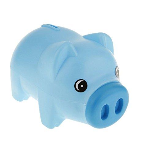 Kuinayouyi Caja de Dinero Animal de la Hucha Azul plastico Monedas de la economia de Tresorerie Regalo de los ninos de los ninos
