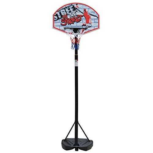 MGIZLJJ Basketballkorb Jugendliche Basketball-System, einstellbare Höhe tragbarer Impact Backboard Outdoor Basketball-Reifen mit PE-Rückwand for Jugend Kinder/Junior