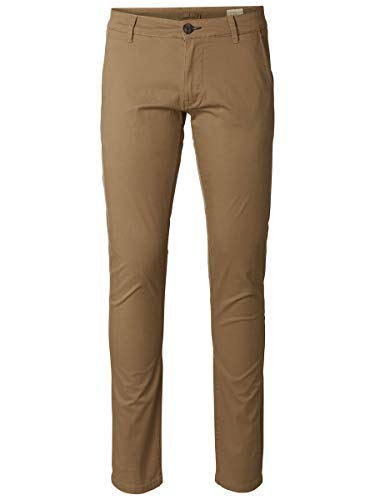 SELECTED HOMME Male Chino SLHPARIS Regular FIT - 3634Camel