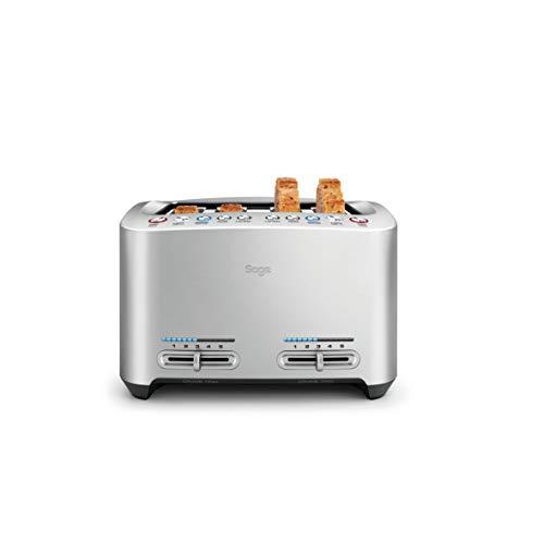 Sage Appliances STA845 the Smart Toast, 4-Scheiben Toaster, Gebürstetes Edelstahl