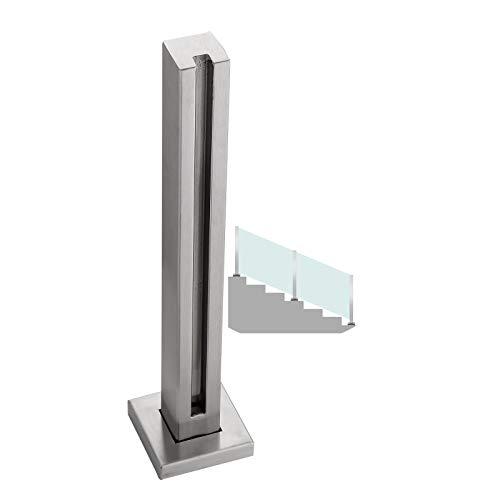 BAIYING Pasamanos De Escalera, 304 Pulido Acero Inoxidable Precisión De Soldadura Fuerte Capacidad De Carga Vidrio Sin Perforaciones Sencillez Moda Balcón Barandilla Vertical Brazo