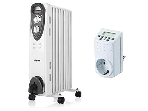 Tristar 2000 W Elektrische verwarming met wieltjes, regelbare thermostaat & timer, kamerverwarming