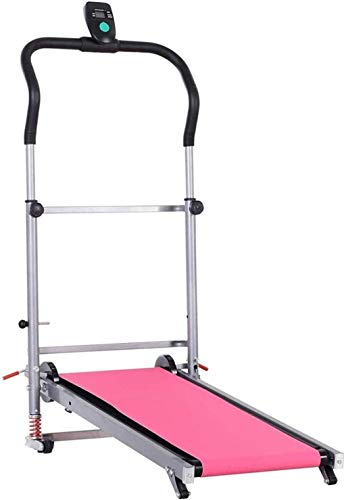 Treadmills for Home Folding, Walking Machine, Walking Machine, Treadmill Portable Folding Mechanical Treadmill Walking Running Machine LCD Display Screen 2 Reclining Angles Exercise Machine